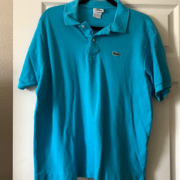 67ef87bb Lacoste Shirts | Mens Pique Polo Shirt Teal Blue | Poshmark